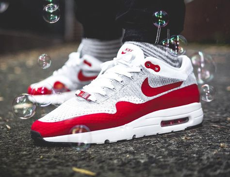 2a49033e45 Nike Air Max 1 OG Flyknit Ultra Rojo deportivo