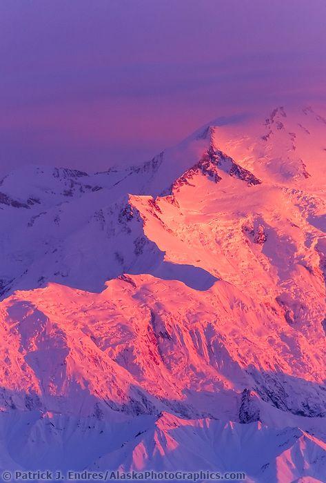 20, 3020+ Ft. Mt. Denali, Alpenglow On Pioneer Ridge Of Denali's North Face, Den… | Denali national park and preserve, American national parks, Denali national park