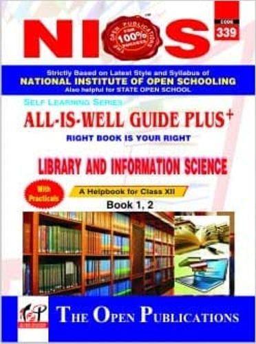 Nios Help Books Nios Latest Exam Book Liabrary Science 339 English Medium Guide Book Book Publishing Previous Year Question Paper