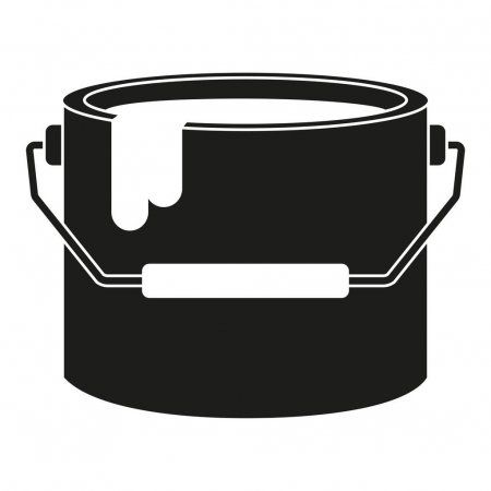 Black And White Paint Bucket Silhouette Stock Vector Ad Paint White Black Bucket Ad White Paints Black And White Paint Buckets