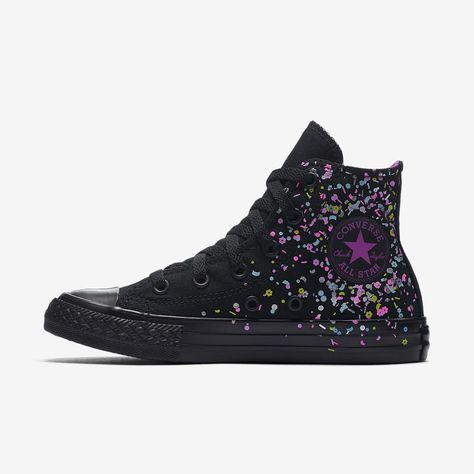 Converse Chuck Taylor All Star Birthday Confetti High Top Girls  Shoe 28ad6ae27