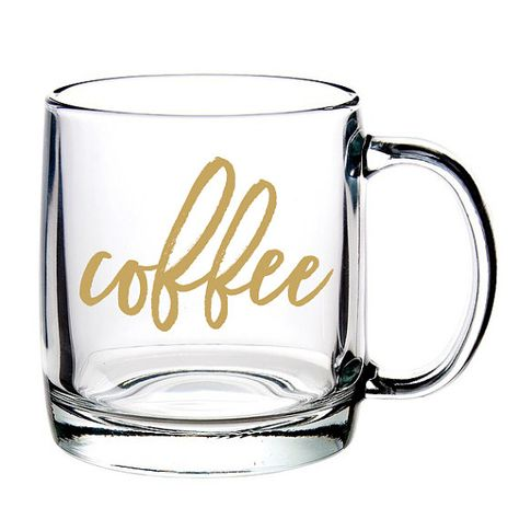 Coffee Glass Coffee Mug Glass Mug Made In Usa By Sweetwaterdecor