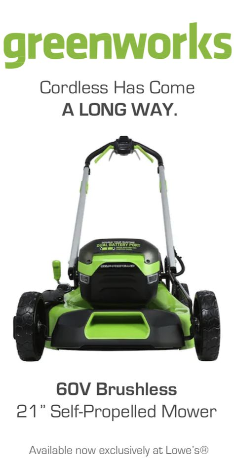 Greenworks Pro 60-Volt Brushless Lithium Ion Self-propelled 21-in Cordless Electric Lawn Mower