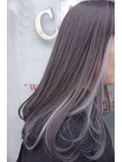 Claire セピアグレージュ インナーカラー 髪 カラー