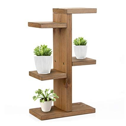 Plant Stand Trietree Solid Wooden Multilayer Flower Display Shelf Tabletop Flower Stand Storage Ra Wooden Plant Stands Indoor Wooden Plant Stands Plant Shelves