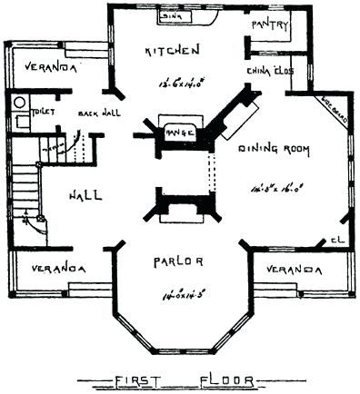 Small Victorian Cottage Plans Save This Old House Folk Folk Heart Pine Flooring And Cottage Dining Ro Victorian House Plans Vintage House Plans Victorian Homes