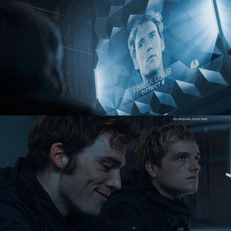 """The Hunger Games on Instagram: """"- finnick odair killing our hearts at this scene where he just laughs at himself displaying his death and that the capitol are so dumb.…"""""""