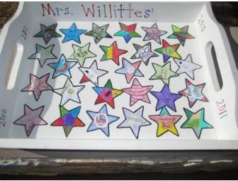 Place a bid on Willittes Classroom Art Project - Serving Tray to help support the Desert Canyon Elementary PTO fundraising auction.