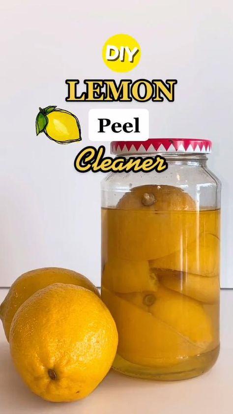 DIY All-Purpose Lemon Peel Cleaner