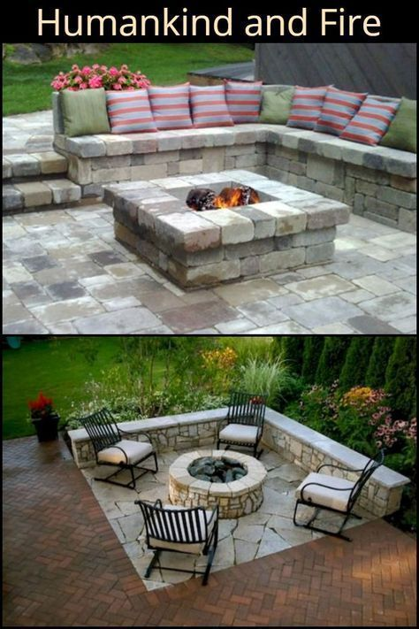 Lovely Fire Pit Place Ideas For Your Home Small Backyard Patio Fire Pit Patio Backyard Fire