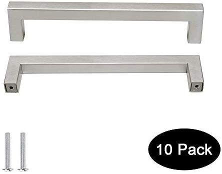 10 Pack Probrico 1 2 In Stainless Steel Square Corner Bar Kitchen Cabinet Door Handles Brusehd S Kitchen Cabinet Door Handles Kitchen Cabinet Doors Kitchen Bar