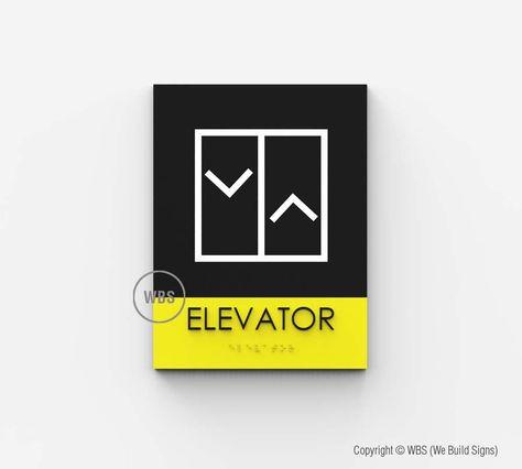 Elevator Sign - HOR 02