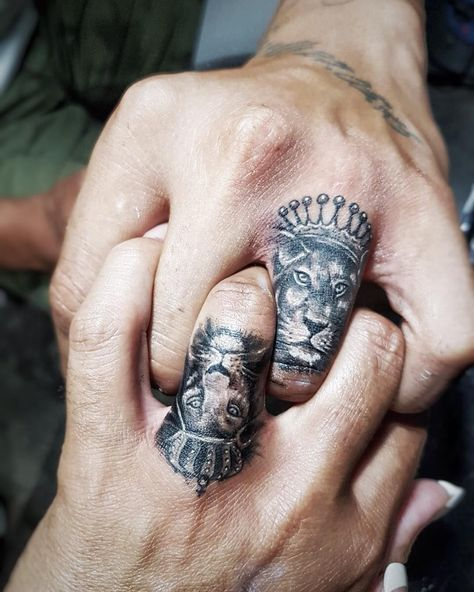 lion & lioness couple tattoo ❤❤❤