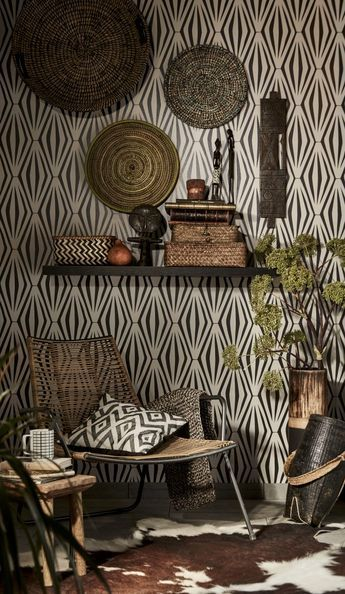 Des Idees Neuves Pour Vos Murs Visite Deco African Decor Living Room African Home Decor African Inspired Decor