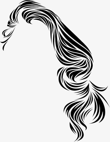 Black And White Vector Long Hair Hair Clipart Long Curly Hair Ladies Hair Png Transparent Clipart Image And Psd File For Free Download Hair Clipart Long Hair Styles Hair Png