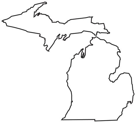8 Photos of Michigan State Map Outline