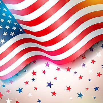 Independence Day Of The Usa Vector Illustration Fourth Of July Design With Flag And Stars On Light Background For Banner Greeting Card Invitation Or Holiday Holiday Poster Fourth Of July