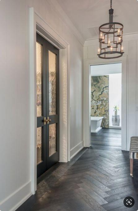 elegant foyer herringbone floor