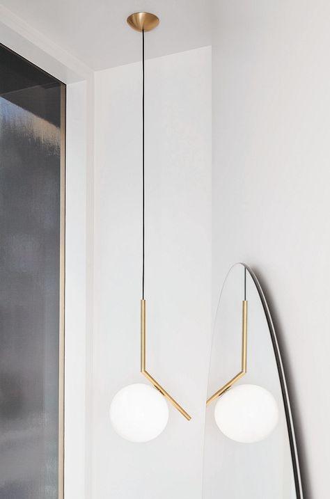 VINLUZ 8 Light Sputnik Chandelier Light Fixtures Deeper Brass Semi Flush Mount Ceiling Light Modern Pendant Lighting Mid Century Starburst Style