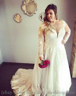 Ad)eBay - Plus Size Vintage Lace Appliques Wedding Dresses ...