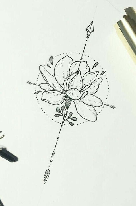 I like the idea of the circle (full moon) and lotus together for an upper back t...