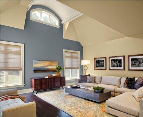 Akzent Farbe Wande Wohnzimmer Mit Bildern Wohnung