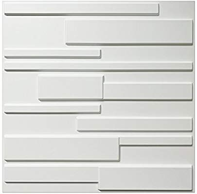 Amazon Com Art3d White Wall Panels Brick Design 3d Wall Panels White 12 Tiles 32 Sq Ft Home Improvement White Wall Paneling 3d Wall Panels Wall Design