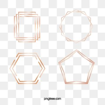 Rosa De Ouro Do Quadro Um Grupo De 4 Linhas Geometricasquadro Gradiente Rosa Png E Psd Logotipo De Salao Imagem Rosa Png