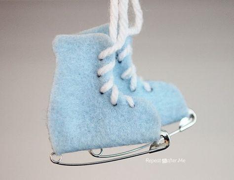 Safety Pin Ice Skates - Felt   DIY