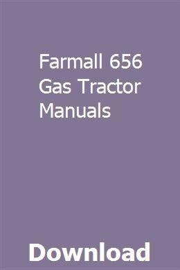 Farmall 656 Tractor Operators Manual Patio, Lawn & Garden ...