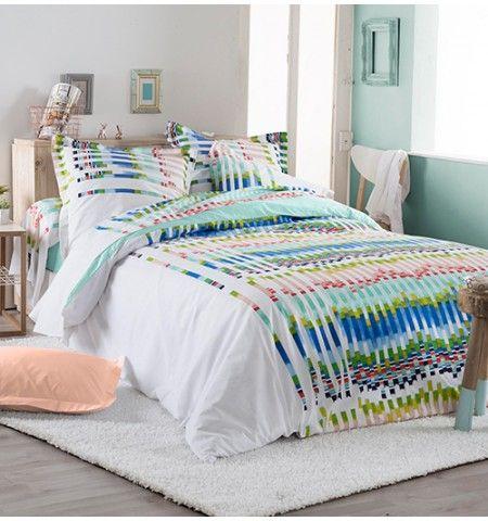Housse De Couette Coton Vibration Parure De Lit Chambre Coloree Chambre Parentale Design