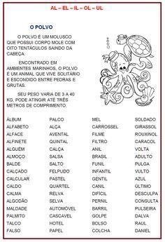 Ortografia Al El Il Ol Ul Rerida Maria Gavetas De