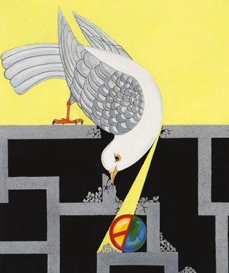 """Give Peace a Chance"" 2004-2005 Grand Prize Winner by 12-year-old Cheuk Tat Li of China Hong Kong"