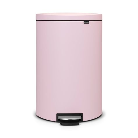 Brabantia Classic Pedaalemmer.Brabantia Flatback Pedaalemmer 40 L Mineral Pink Keukens