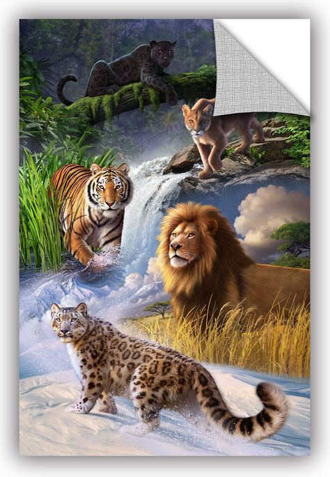 Big Cats' by Jerry Lofaro Graphic Art Removable Wall Decal