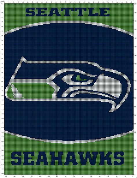 Crochet Blankets For Men Ravelry: Seahawks pattern by Sue Williams Going to have to make this for Rick -