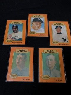 Baseballs All Time Greats Collectors Cards Including Babe Ruth Ty