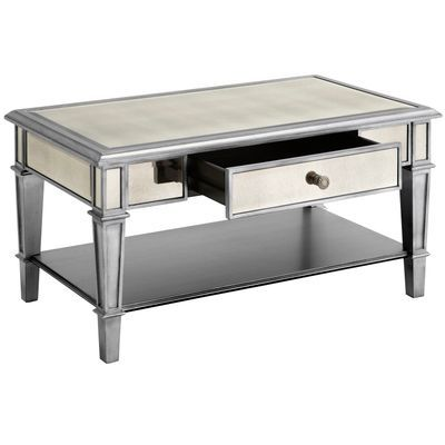 Hayworth Mirrored Silver Coffee Table Pier 1 Imports Mirrored