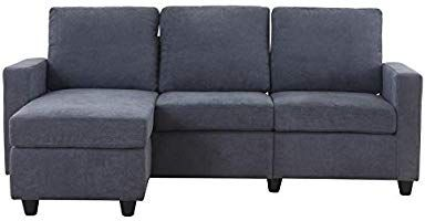 Amazon Com Honbay Convertible Sectional Sofa Couch L Shaped Couch With Modern Linen Fabric For Small Space Sectional Sofa Couch Modern Linens L Shaped Couch