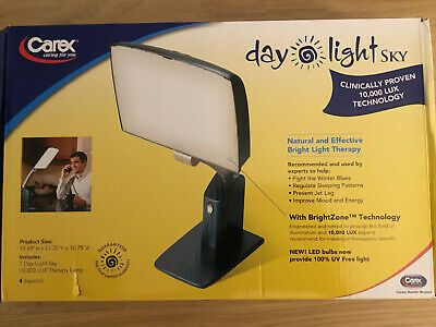 Advertisement Carex Day Light Sky Bright Light Therapy Lamp 10 000 Lux Sun Lamp New In Box Light Therapy Lamps Light Therapy Sun Lamp