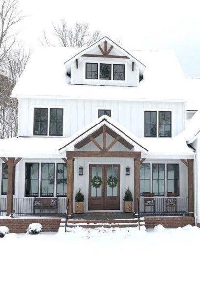 27 Modern Farmhouse Exterior Design Ideas For Stylish But Simple Look Ruang Harga House Plans Farmhouse Barn House Design Metal Building Homes