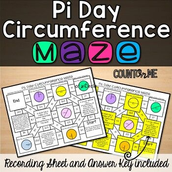 No Prep Pi Day Circumference Of A Circle Maze Activity