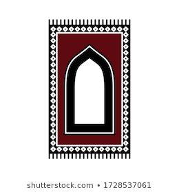 Prayer Rug Icon On White Background Stock Vector Royalty Free 1727781142 In 2020 Prayer Rug White Background Icon