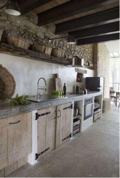 Idee per arredare la cucina in stile rustico | Interni della ...