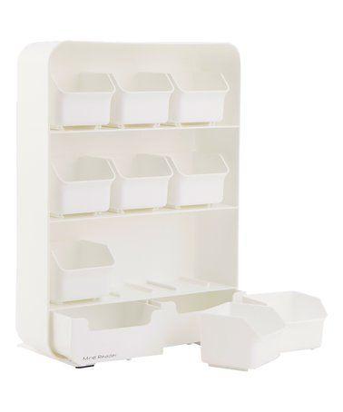 Look At This Zulilyfind White Nine Bin Tea Organizer Set