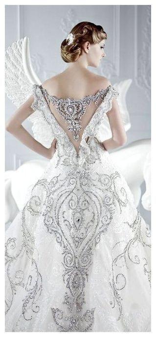 dress #Beautiful #Dazzling #White...
