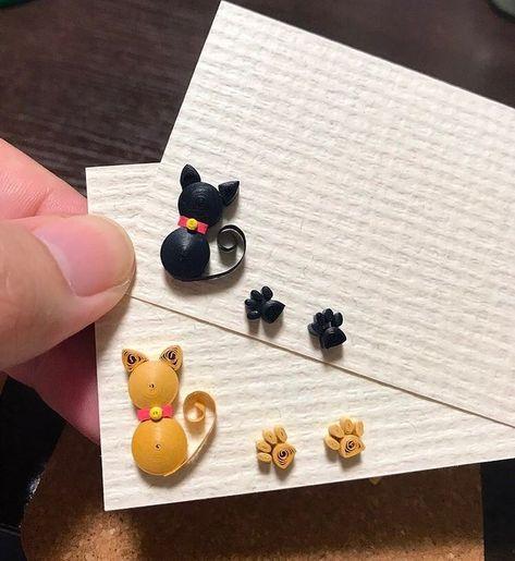 くみ on Instagram: 猫のメッセージカードを2種類に そし  くみ on Instagram: 猫のメッセージカードを2種類に そして足跡 を改良しました ฅ #メッセージカード手作り #messagecard #papercat #papercraft #paper  The post くみ on Instagram: 猫のメッセージカードを2種類に そし appeared first on Paper Ideas.