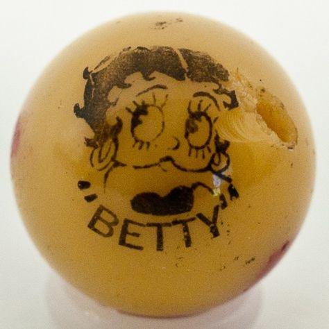 Rare Vintage Peltier Comic Marble Quot Betty Quot Marble Art