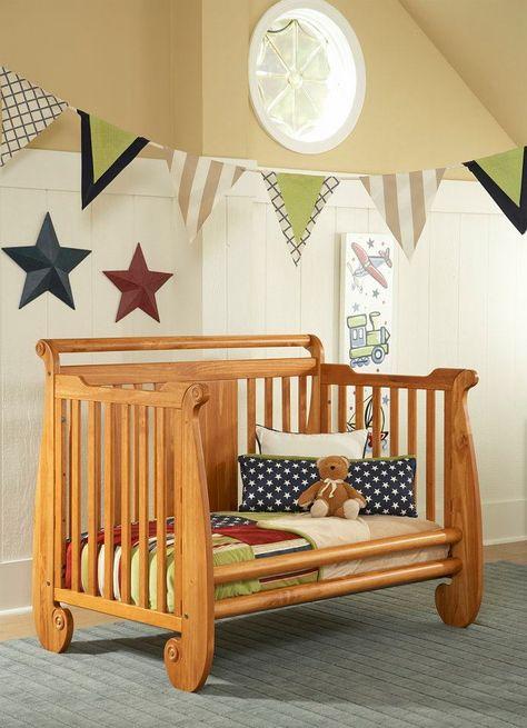 Serenity Crib Converted Into Toddler Bed Chestnut Finish Serenity Crib Baby Nursery Babysdream Baby Crib Hammock Cribs Baby Furniture