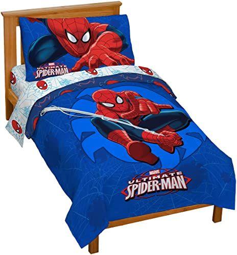 The Marvel Spiderman Regulator Toddler 4 Piece Bed Set Online